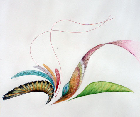 psychedelic flower, watercolor