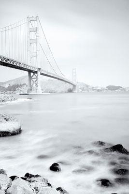 """2.Platz """"schwarz/weiß"""" Juroren-Wertung: Berthold Rosenberg """"Golden Gate Bridge San Fransico"""""""