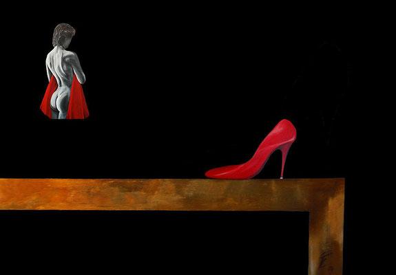 Egon Fries: Roter Schuh