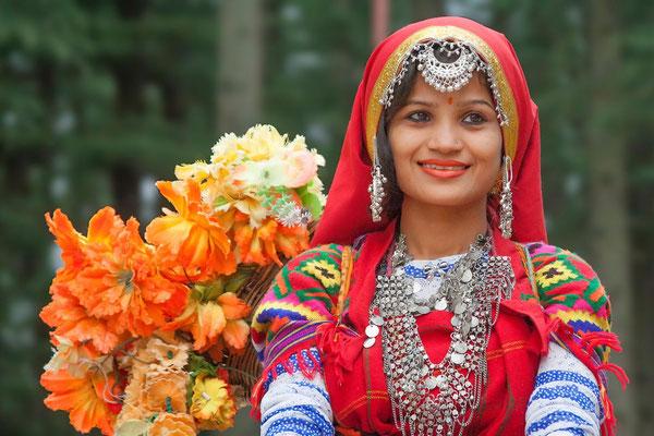 Geschmückte Braut