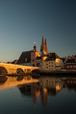 Daniel Brüser: Steinerne Brücke und Dom in Regensburg
