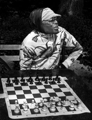 Schachspieler, abwartend