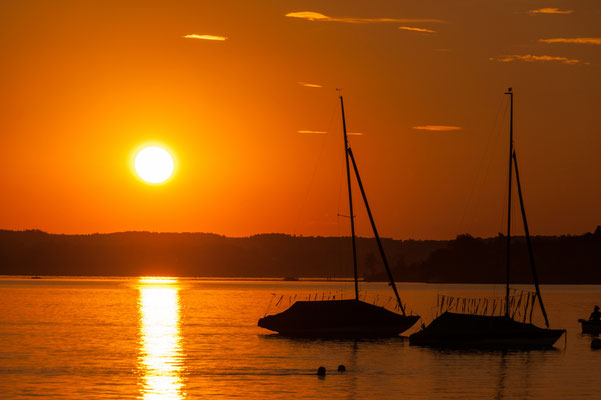 Daniel Brüser: Sonnenuntergang am Ammersee