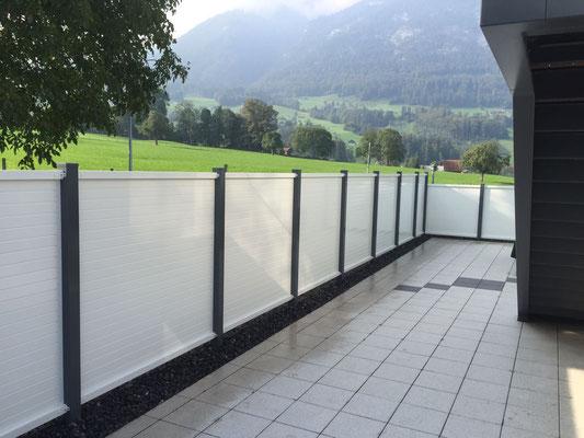 Alu- Sichtschutz Wand