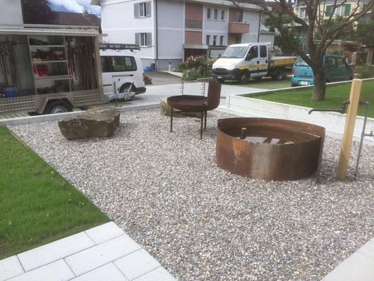 Grillplatz mit Brunnen