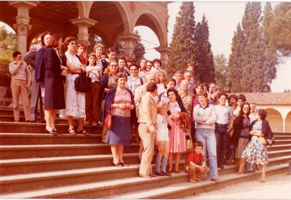 Arezzo, 1981, gita degli insegnanti con i familiari
