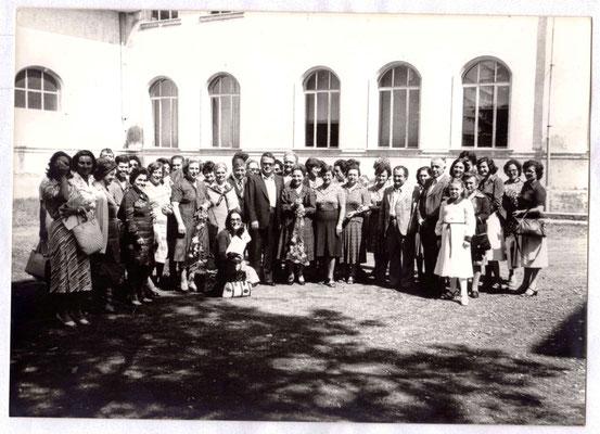 Scuola elementare di Vetralla, 8 settembre 1978, pensionamento delle insegnanti Anita Marconi, Corinna Carrieri, Matilde Marcucci Cecchini.