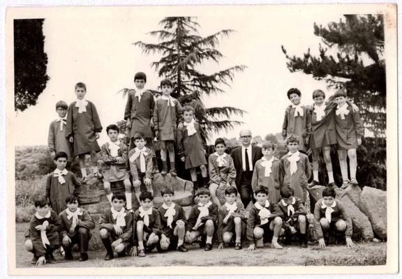 Scuola elementare di Vetralla, a.s. 1968-1969, classe IV, maestro Umberto Grande.