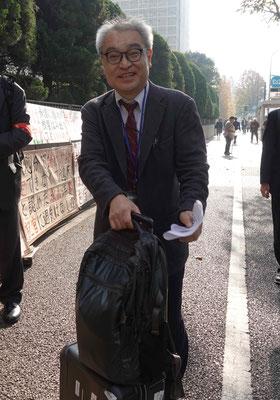 第14回口頭弁論 裁判所に入る植村隆氏 2018.11.28
