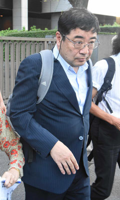 第13回口頭弁論 本人尋問を終えて裁判所を出る西岡力氏 2018.9.5