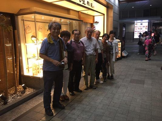 講演会の後の懇親会 福井市で 2017.8.4