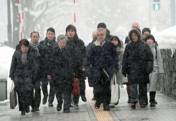 札幌控訴審判決の日  2020.2.6 5年前の提訴の日と同じように、黒い雪雲が空を覆っていた