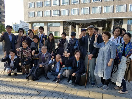 控訴審第3回口頭弁論後、韓国の支援者と 2019.10.10