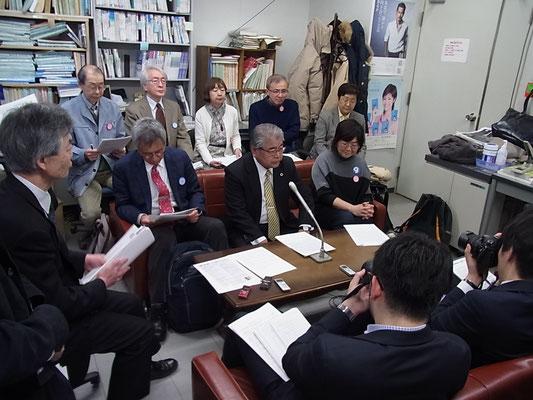 植村裁判を支える市民の会 発足発表の記者会見 2016.4.12