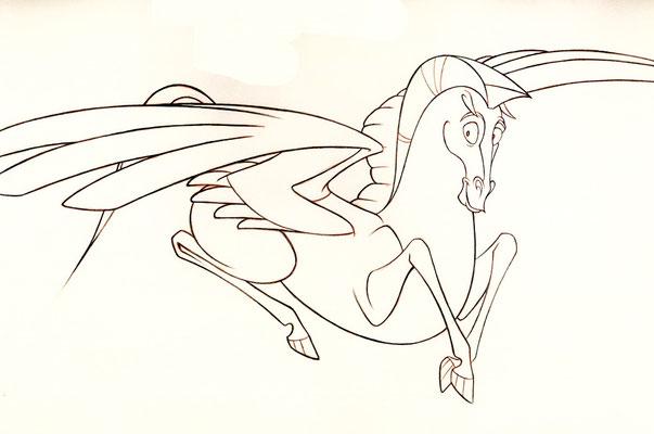 Hercules 1996 - Pegasus, assistant to character lead animator Ellen Woodbury