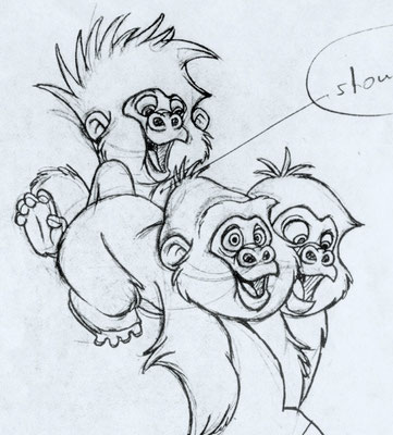 Tarzan 1997 - Gorillas, assistant to character lead animator