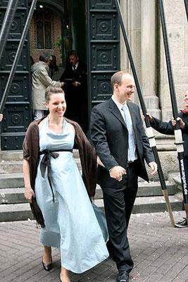 Hochzeitskleid in türkis