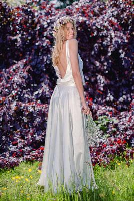 Brautkleid Zweiteiler im Boho Stil - Bridal Top mit weich fallendem Brautrock