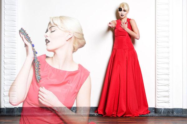 rotes Abendkleid Foto: Nancy Heusel