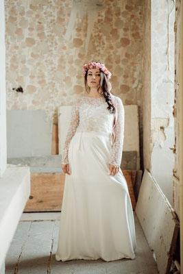 """dein Boho Brautkleid Spitzentop """"Sina"""" - leichte und unkomplizierte Hochzeitskleider"""