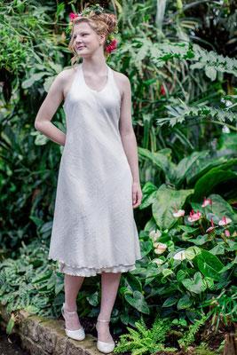 """knielanges Hochzeitskleid """"Stadtfee"""" aus Biobaumwolle"""