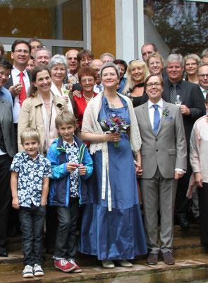 blaues Hochzeitskleid