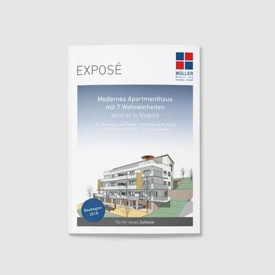 Gestaltung eines Exposé für Müller Massiv-und Holzbau GmbH (Vorderseite)
