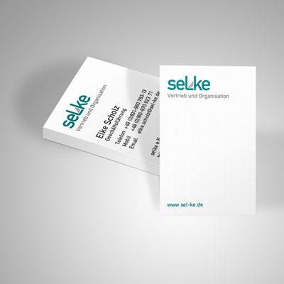Gestaltung von Visitenkarten für Selke e.K. aus Kempten