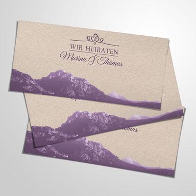 Gestaltung von Hochzeitsausstattung - Einladungen, Menükarten, Kirchenblätter, Tischkärtchen