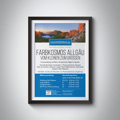Gestaltung eines Plakates für eine Fotoausstellung in der Argentalklinik in Neutrauchburg/Isny