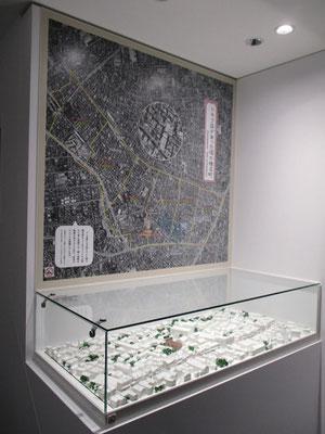 トキワ荘界隈の航空写真とミニ模型