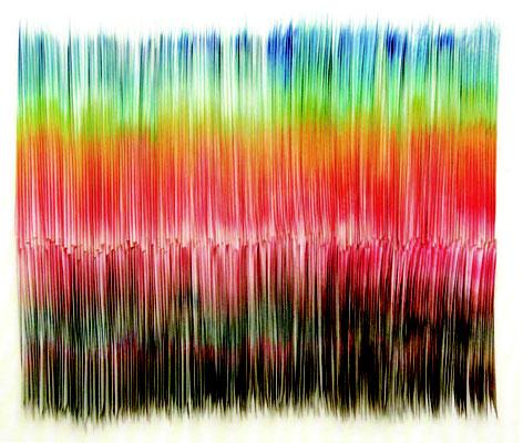 ジンスック・シンデ「日の出」103×124 ㎝「衝撃の4 人展」