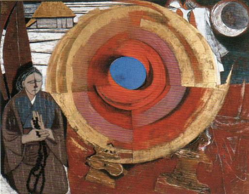 荘司 福(1910-2002) 《祈》 1964年 紙本着色 180×225