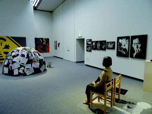 展示強制中止中の「表現の不自由展・その後」。 あいちトリエンナーレ2019