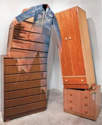 高橋英吉(1911-1942)《潮音》(海の三部作2) 1939年 木(桂) 207×76×57