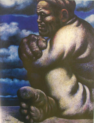 「浜の男」1956年 F100号