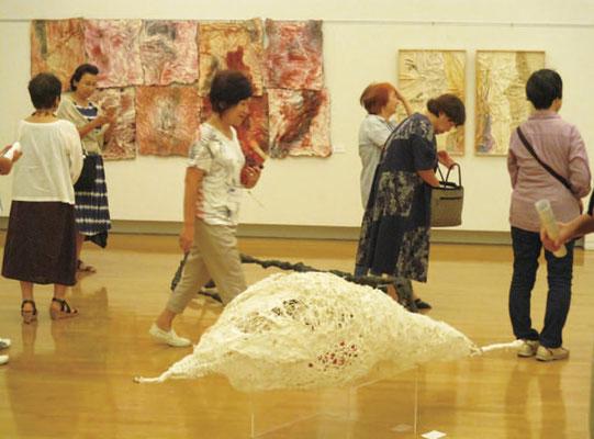 和紙造形のグループ参加・出品のコーナー