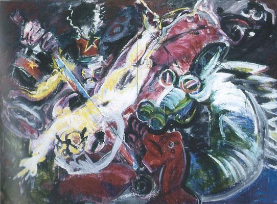 三光 黒い紋章 第47回 日本アンデパンダン展 1994年