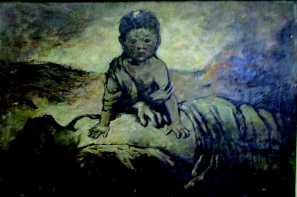 「朝鮮戦争」油彩