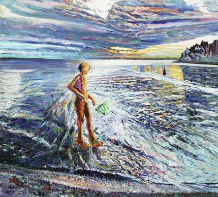 Porto di Duino. 2011. Oil on canvas. 198 x 220