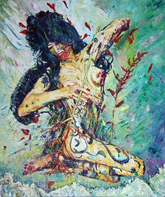 Anthurium. Salome. 2014. Oil on canvas. 120 x 100