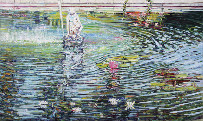 Miramare. Charlotte's Fountain. 2011. Oil on canvas. 164 x 270