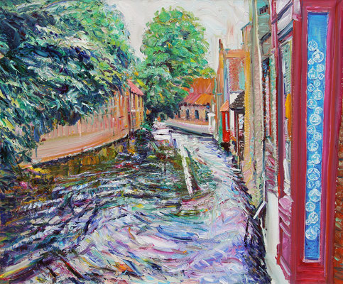 Sleeves of Bruges. 2012. Oil on canvas. 100 x 120