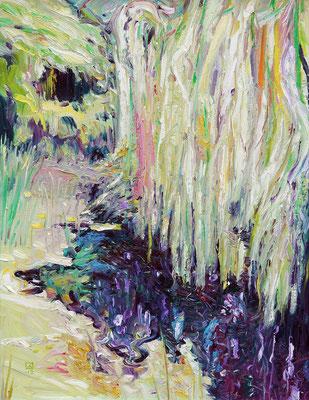Magic Plaits. 2012. Oil on canvas. 74 x 56.5