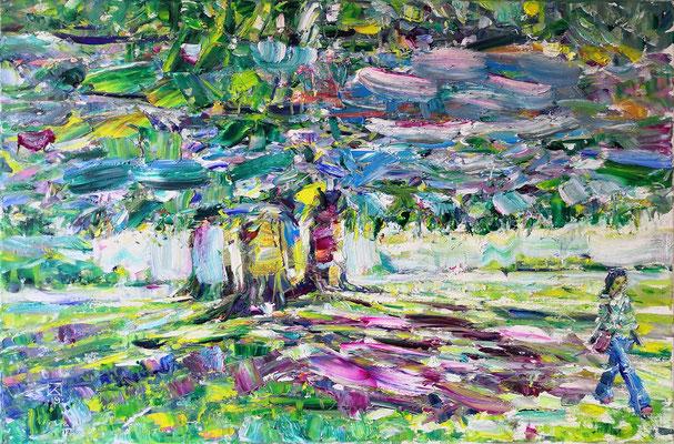 Autumn Light. 2019. Oil on canvas, cardboard. 40 x 60