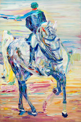 Horsewoman. 2019. Oil on canvas. 120 x 80