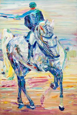 Horsewoman. 2019. Oil on canvas. 120 x 80