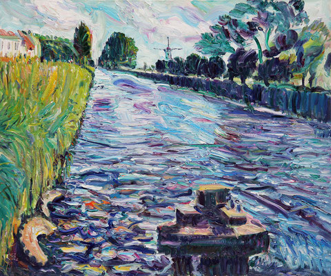 Canal. Damme. 2012. Oil on canvas. 100 x 120