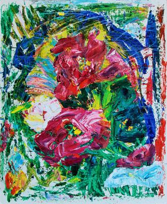 Yard Flowers. 2020. Oil on cardboard. 41,3 x 34