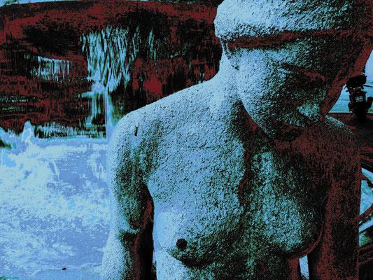 The Virgin Monument. 2010. Photo, aluminum, plasticization. 99.5 x 132.5